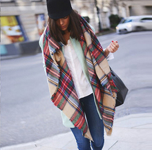 fashion yong plaid manton de manila shawl