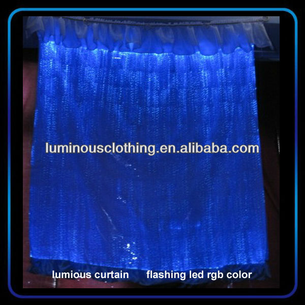 unique style 2014 led curtain fabric design