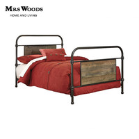 Metal Single Bed Frame Furniture Wooden