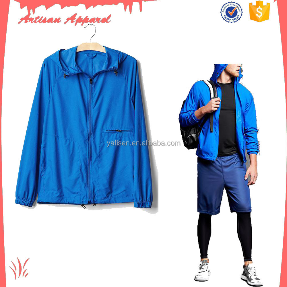 OEM mens outdoor sports wear blazer 100% polyester fit jacket for training