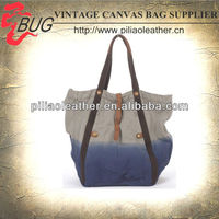 2013 Fashion Dip Dye Canvas Shopper Bag/Tote Bag/Handbag