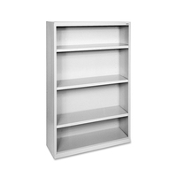 Grey steel 3 shelf book
