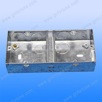 2 gang outlet gi junction box metal box cover