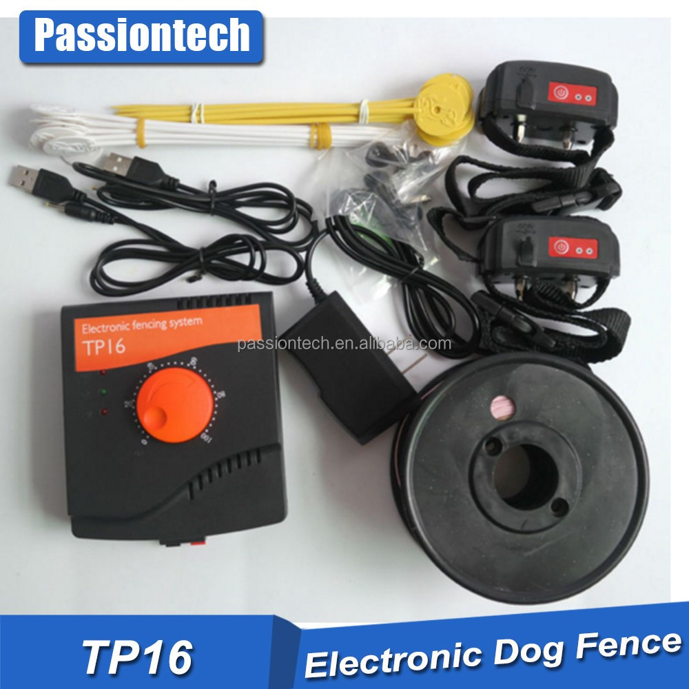 2017 Best Outdoor Electronic Invisible Dog Boundary Shock Fence Collar Rechargeable Waterproof Dog Containment