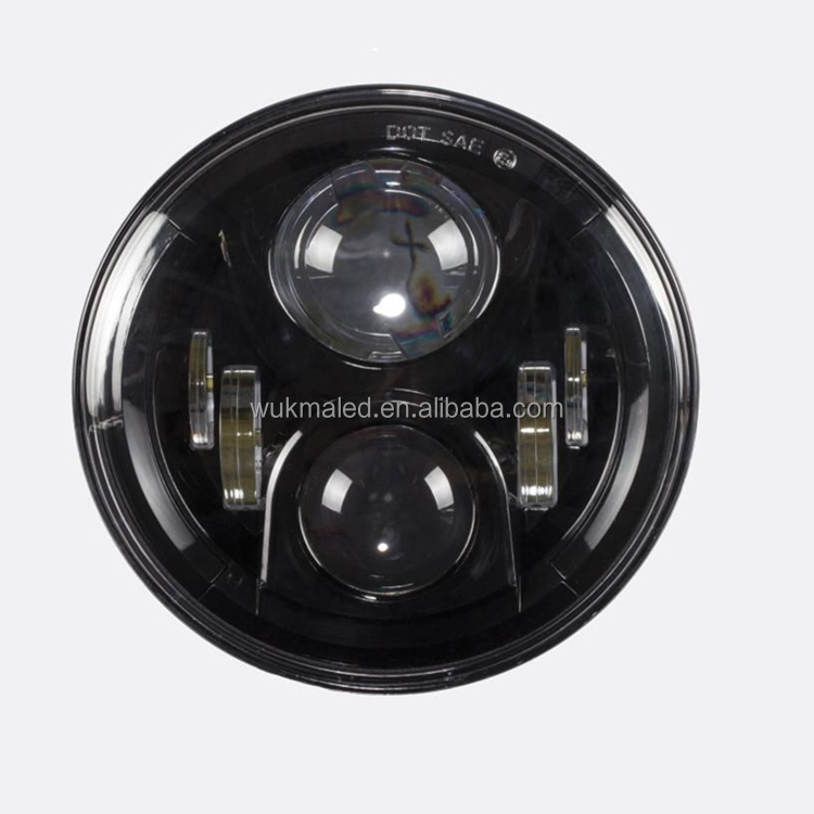 Wukma 2nd Round 7 LED Headlight Black 97 15 Jeep Wrangler