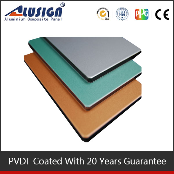 Aluisign PVDF acp sheet exterior wall cladding thin foam sheet