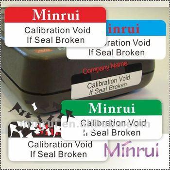 custom evidence labels warranty void seal calibration stickers buy evidence label calibration. Black Bedroom Furniture Sets. Home Design Ideas