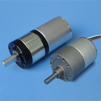 low nosie brushed electric dc motor with gearbox