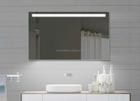 Top quality hotel mirror with led top lights ,backlights mirror with clock or magnifying shaving mirror