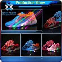 Hip-hop soft light weight leisure sports breathable led shoes kids with multi sizes,led light up kids shoes