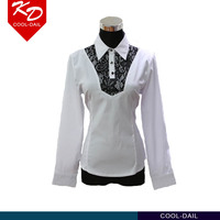 wholesale ladies' white t shirts OEM service casual shirts for women long sleeve blouses