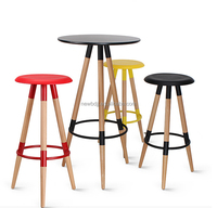 small round solid wood bar table, replica high bar table coffee tabe