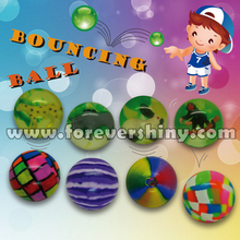 Custom Design Candy Crane Plastic Small Gashapon Egg Toys Candy Marble 42mm Rubber Bouncing Ball with Capsule