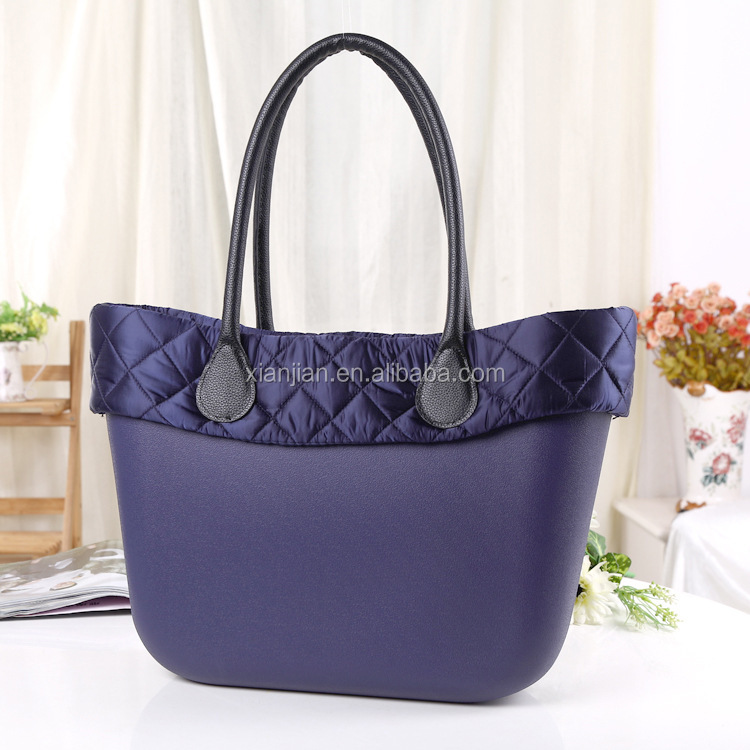 2017 New Product Duck Down Decoration Rubber Gel Silicone Handbag, Women Silicon Tote Bag (BA0312)