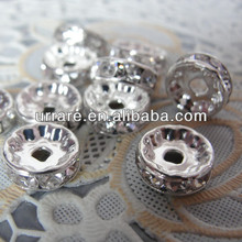 10MM Grade AAA Rhinestones Rondelle Spacer Beads