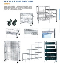 Kitchen Stainless Steel Wire Shelving Square Wire Shelving