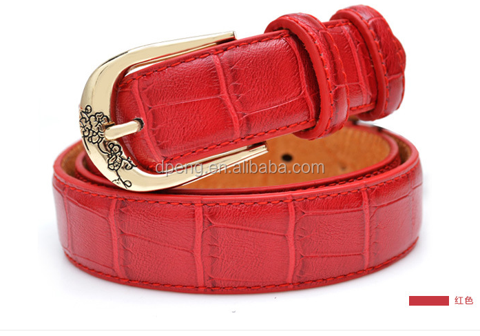 2017 New Good design fashion ladies leather belt women belt