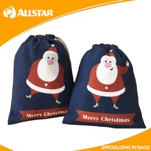 Factory directly supply nature eco-friendly nonwoven christmas kids gift bags candy bags promotional drawstring bags for kids