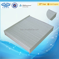 Pleated air filter for air condition