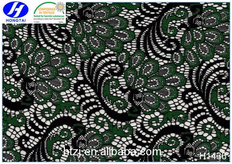 Multicolor high quality african embroidery chemical lace for garment