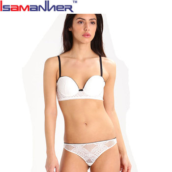 Indian girl sexy bra and underwear push up lace white bra panty