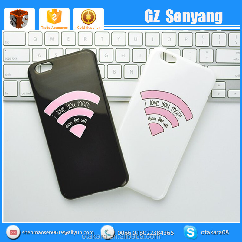 New Product Love You More Than Wifi Couples TPU Soft Case for iphone 6s