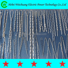 Galvanized steel preformed dead end guy grip / preformed helical dead end clamp / overhead line accessories