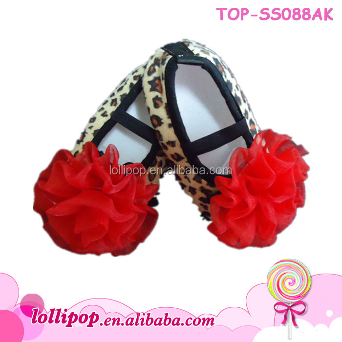 New arrival wholesale 2017 baby shoes fashion lovely leopard baby dress shoes