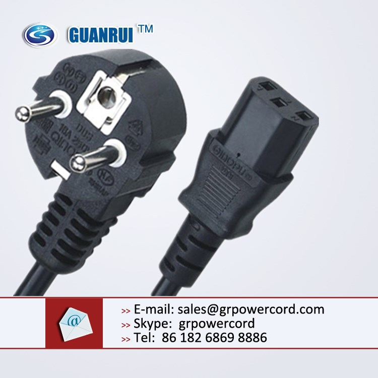 euro power cord,power cord with figure 8 plug