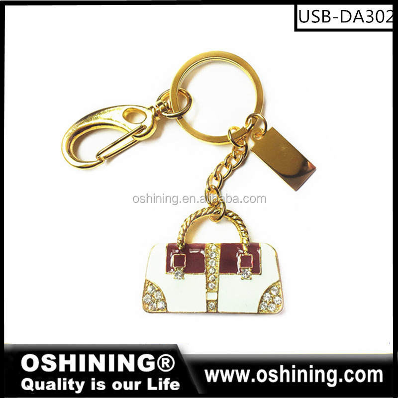 Promotionals usb stick memory Jewelry bag shape Jewelry USB Flash Drive for gift (USB-DA302)