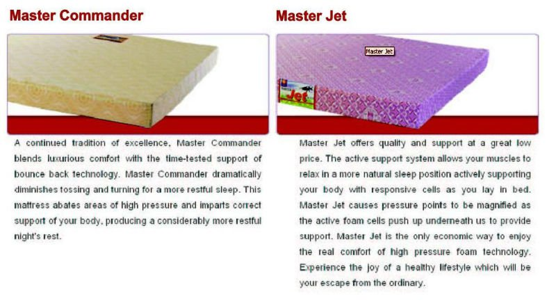 Master MoltyFoam and Celest Spring Mattress - Jozy Mattress | Jozy.net