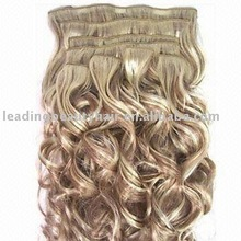 Popular wave remy hair clip in extentions