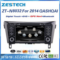 For Nissan QASHQAI 2 DIN screen touch Car radio with GPS Navigation Bluetooth Radio AM/FM 3G CD DVD A8 CHIPSET 2014