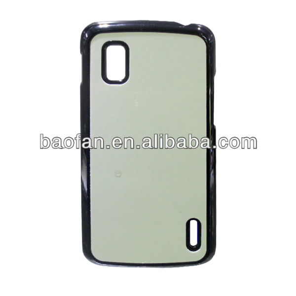 Sublimation hard PC phone case for LG nexus4 with aluminum insert