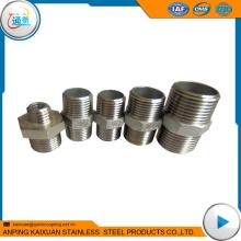 Hot selling stainless steel npt threaded pipe nipple hex nipple sus nipple with low price