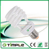 Mini CFL Lamps, Cell Energy Saving lamps, T2 Half Spiral cfl lights 20w Hangzhou 8000hours 100% Tri-phosphor