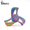Metal rainbow spinner toy tri-spinner stainless steel bearing high speed 4-7 mins spins finger fidget toys