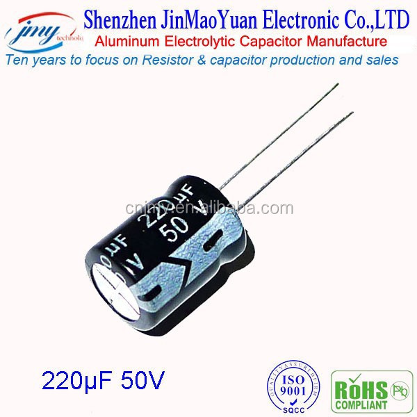 High quality 220v 50uf Capacitors aluminum electrolytic capacitor