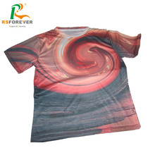 OEM 2017 Sunset Design Sublimation T Shirt Made In High Quality Polyester Fabric
