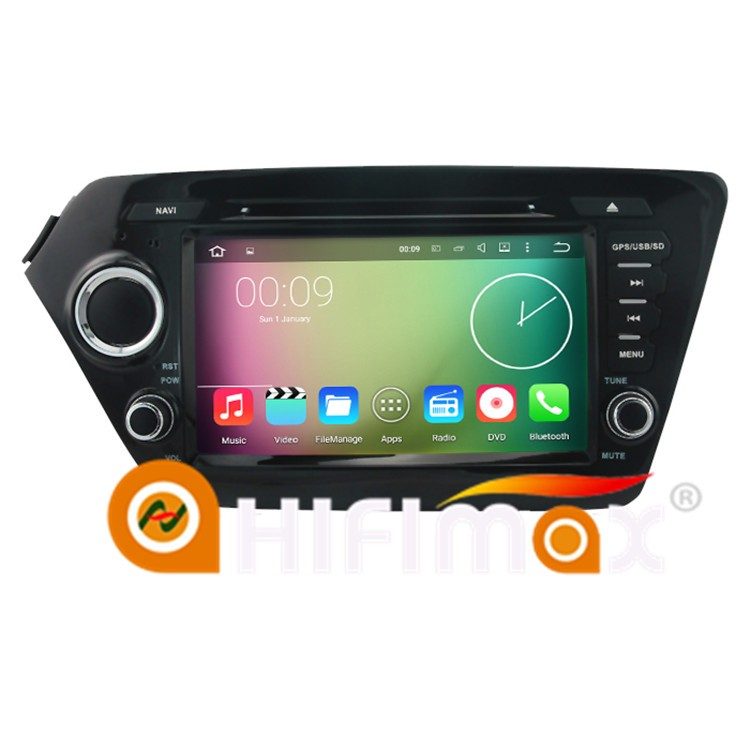 HIFIMAX ANDROID 5.1.1 car dvd for KIA RIO K2 RADIO VIDEO DVD GPS WITH A9 CHIPSET 1080P