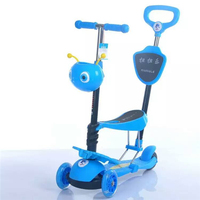 CE approved safe push 3 wheel kid powered scooter best selling kid motorcycle scooter with seat hight quality kick foot scooter