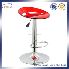 Acrylic Colorful Plastic Bar Stool With Metal Legs