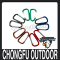 "2017 new arrivals 2"" Assorted Colors D Shape Aluminum Carabiner for camping"