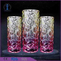 Whole different types home decorative colorful glass vases