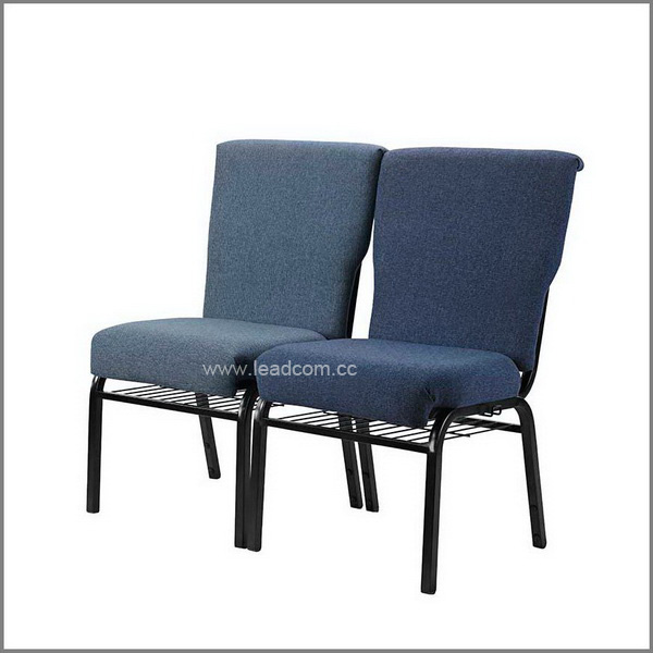 Leadcom fabric padded stackable church chairs for sale (LS-522)