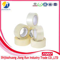 wholesale acrylic water based rubber adhesive opp clear/transaprent packaging carton tape