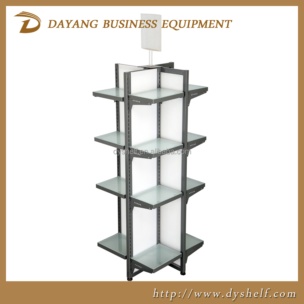 Hot Sell new design 4-Way Display stand Racks/warehouse racks shelf