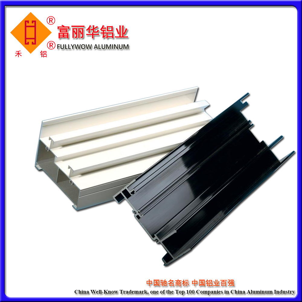 Reliable Quality U Shape Aluminum Extrusion Profiles for Top or Bottom Track of windows and Doors