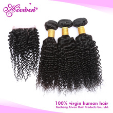 Double Machine Weft 100G/Bundle 100% Unprocessed spiral curl indian hair