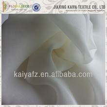New design cheap solid white chiffon fabric